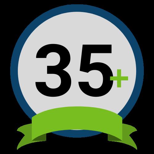 35+ Years